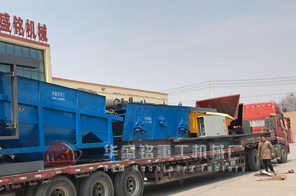 黄金城平台appshi处理150吨滚筒筛chenggong发往陕西西安
