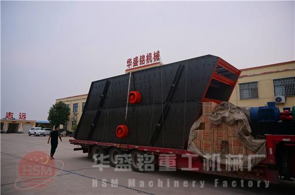 两台振动筛zhuang车fahuo现场