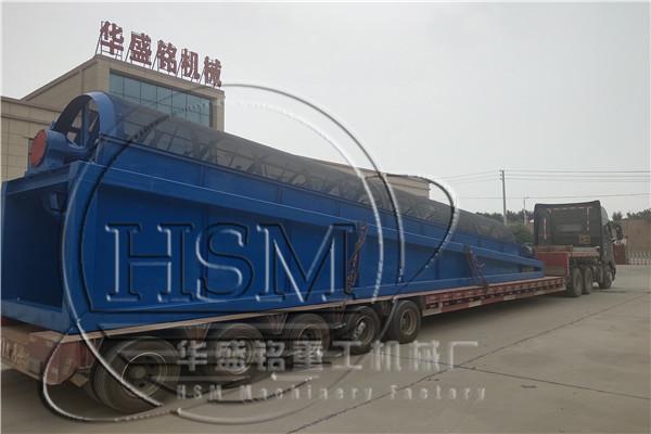 GTS1812型大型滚筒筛发往jiang苏zhang家港